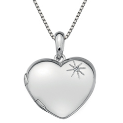 Støíbrný pøívìsek Hot Diamonds Memoirs Heart Locket