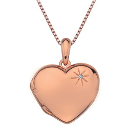 Støíbrný pøívìsek Hot Diamonds Memoirs Heart Locket Rose