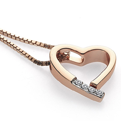 Obrázek è. 4 k produktu: Pøívìsek Hot Diamonds Just Add Love Memories Rose Gold