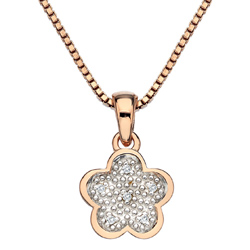 Pøívìsek Hot Diamonds Stargazer Flower Rose Gold