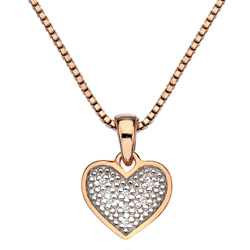 Přívěsek Hot Diamonds Stargazer Heart Rose Gold