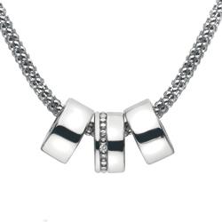 Stříbrný náhrdelník Hot Diamonds Trio Statement