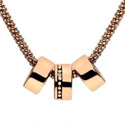Stříbrný náhrdelník Hot Diamonds Trio Statement Rose Gold