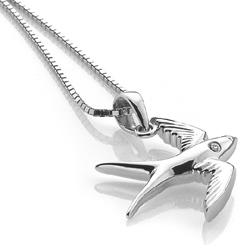 Obrázek è. 2 k produktu: Støíbrný pøívìsek Hot Diamonds Paradise Swallow