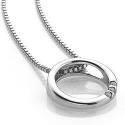 Obrázek è. 2 k produktu: Støíbrný pøívìsek Hot Diamonds Halo Circle