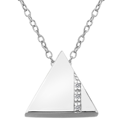 Støíbrný pøívìsek Hot Diamonds Silhouette Triangle