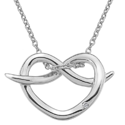 Støíbrný pøívìsek Hot Diamonds Infinity Heart
