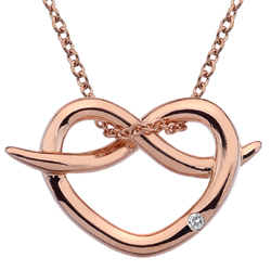 Støíbrný pøívìsek Hot Diamonds Infinity Heart Rose Gold