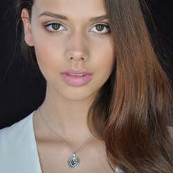Obrázek è. 18 k produktu: Støíbrný náhrdelník Hot Diamonds Turning Heart