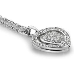 Obrázek è. 20 k produktu: Støíbrný náhrdelník Hot Diamonds Turning Heart