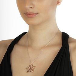 Obrázek č. 1 k produktu: Stříbrný náhrdelník Hot Diamonds Paradise Rose Gold