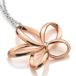 Obrázek č. 3 k produktu: Stříbrný náhrdelník Hot Diamonds Paradise Rose Gold