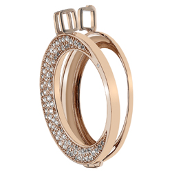 Støíbrný pøívìsek Hot Diamonds Emozioni Luna Rose Gold Coin Keeper