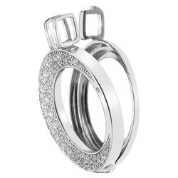 Støíbrný pøívìsek Hot Diamonds Emozioni Luna 25 Coin Keeper