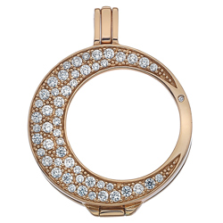 Obrázek è. 2 k produktu: Støíbrný pøívìsek Hot Diamonds Emozioni Luna Rose Gold 25 Coin Keeper
