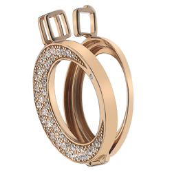 Støíbrný pøívìsek Hot Diamonds Emozioni Luna Rose Gold 25 Coin Keeper