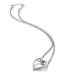 Obrázek è. 2 k produktu: Støíbrný pøívìsek Hot Diamonds Glide Heart
