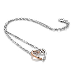 Obrázek è. 2 k produktu: Støíbrný pøívìsek Hot Diamonds Glide Heart Large Rose Gold