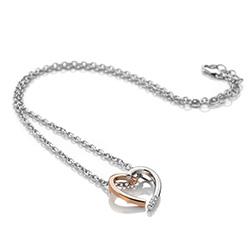 Obrázek č. 1 k produktu: Stříbrný přívěsek Hot Diamonds Glide Heart Large Rose Gold