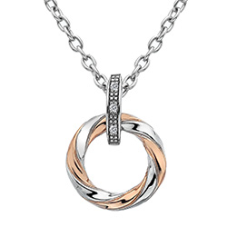 Støíbrný pøívìsek Hot Diamonds Breeze Rose Gold