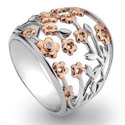 St��brn� prsten Hot Diamonds Shades of Spring Blossom