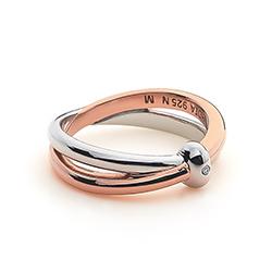 Obrázek è. 2 k produktu: Støíbrný prsten Hot Diamonds Eternity Vermeil
