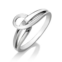 St��brn� prsten Hot Diamonds Forever