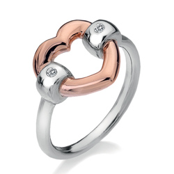 Stříbrný prsten Hot Diamonds Just Add Love Bonded Rose Gold