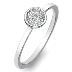 St��brn� prsten Hot Diamonds Stargazer Circle