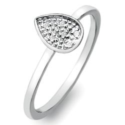 prsten teardrop stargazer