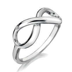 Støíbrný prsten Hot Diamonds Infinity