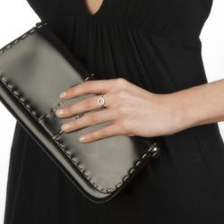 Obrázek è. 2 k produktu: Støíbrný prsten Hot Diamonds Halo Trio Of Diamond