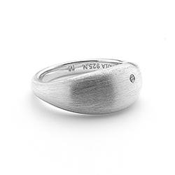 Obrázek è. 6 k produktu: Støíbrný prsten Hot Diamonds Satin