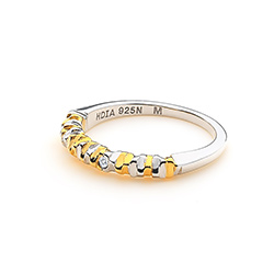 Obrázek è. 2 k produktu: Støíbrný prsten Hot Diamonds By The Shore Gold
