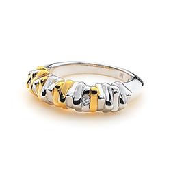 Obrázek č. 7 k produktu: Stříbrný prsten Hot Diamonds By The Shore Gold Large
