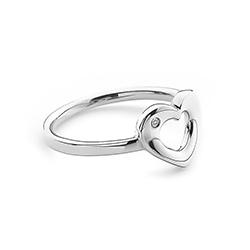 Obrázek è. 2 k produktu: Støíbrný prsten Hot Diamonds Emerge Heart