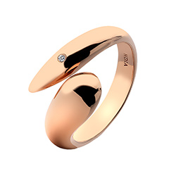 Støíbrný prsten Hot Diamonds Mirage Rose Gold