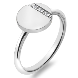 Stříbrný prsten Hot Diamonds Silhouette Circle