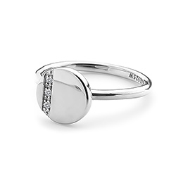 Obrázek è. 2 k produktu: Støíbrný prsten Hot Diamonds Silhouette Circle
