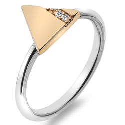 Støíbrný prsten Hot Diamonds Silhouette Triangle Rose Gold