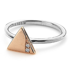 Obrázek è. 2 k produktu: Støíbrný prsten Hot Diamonds Silhouette Triangle Rose Gold
