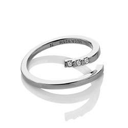 Obrázek è. 2 k produktu: Støíbrný prsten Hot Diamonds Glide