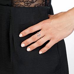 Obrázek è. 4 k produktu: Støíbrný prsten Hot Diamonds Glide