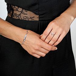Obrázek è. 6 k produktu: Støíbrný prsten Hot Diamonds Glide