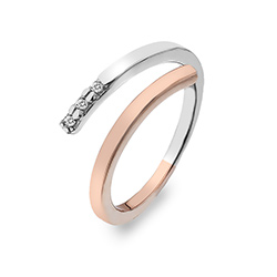 Støíbrný prsten Hot Diamonds Glide Silver Rose Gold