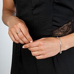 Obrázek è. 6 k produktu: Støíbrný prsten Hot Diamonds Breeze Rose Gold