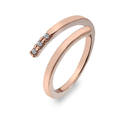 Støíbrný prsten Hot Diamonds Glide Rose Gold