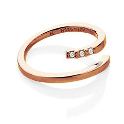 Obrázek è. 2 k produktu: Støíbrný prsten Hot Diamonds Glide Rose Gold