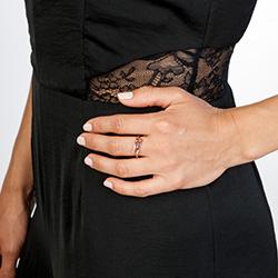 Obrázek è. 4 k produktu: Støíbrný prsten Hot Diamonds Glide Rose Gold