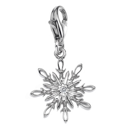 Støíbrný pøívìsek Hot Diamonds Winter Wonderland Snowflake